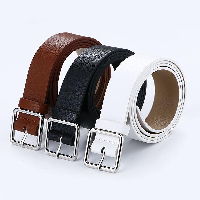Más nuevo diseño mujer cinturón de plata pin cuadrado hebilla - Accesorios para la ropa - foto 4