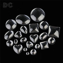 10pcs Multi Size Dome Round Square Water drop Oval Magnifying Transparent Clear Glass Cabochon Cameo Beads for DIY Findings