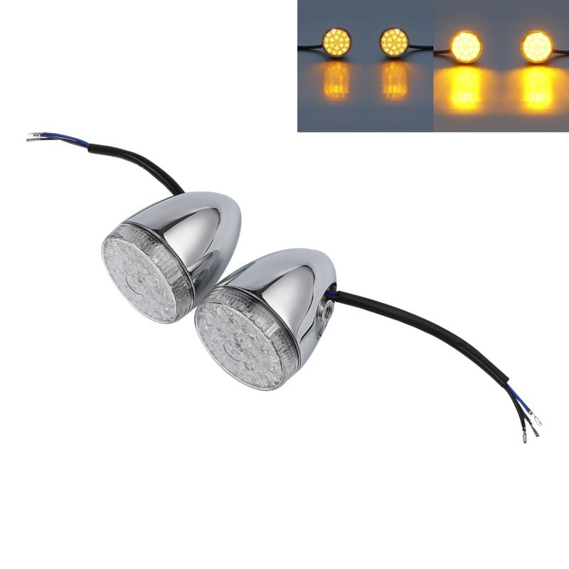 Front LED Bullet Turn Indicator Lights Set For Harley Touring CVO Ultra Street Road Tri Glide Limited FLHX FLHTK FLHTCU 14-18 ...