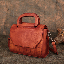 Genuine Leather Handbags 2019 Latest Lady Crossbody Messenger Bags Handmade Natural Leather Shoulder Sling Bag Flap Handbag цена 2017