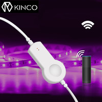 KINCO DC12V 4 Pin Smart Wifi LED Controller Brightness Temperature Timing Control For RGB Strip Light