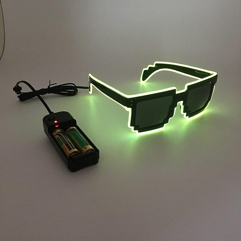 ALI shop ...  ... 32256443641 ... 4 ... 2020 DIY color glasses Pixel Light Up El Wire Led Flashing Glasses EDM EDC Party Bar Accessory Sunglasses ...