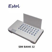 Dbl Sim Bank SMB32 Server, 32 Sim kaarten SMB32 Remote Sim kaarten Beheren, emulator Dbl Goip (Auto Imei Verwisselbare + Auto Sim Rotatie)