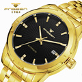 TOP Brand FNGEEN Luxury Automatic Mechanical Men Watch Gold Stainless Steel Watches Casual Band Calendar Display Business Watch
