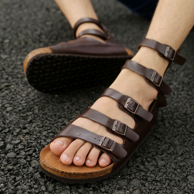 Rom Schuhe Strand Sandalen Us80 Marke Gladiator Für 38mode Männer Echtes Leder Casual Sommer Mann Italienischen sBrdxhQtC