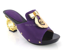 Item No.yh15-1785 purple Italian shoe and bag set ,African lady shoes matching wedding party dress For free shipping