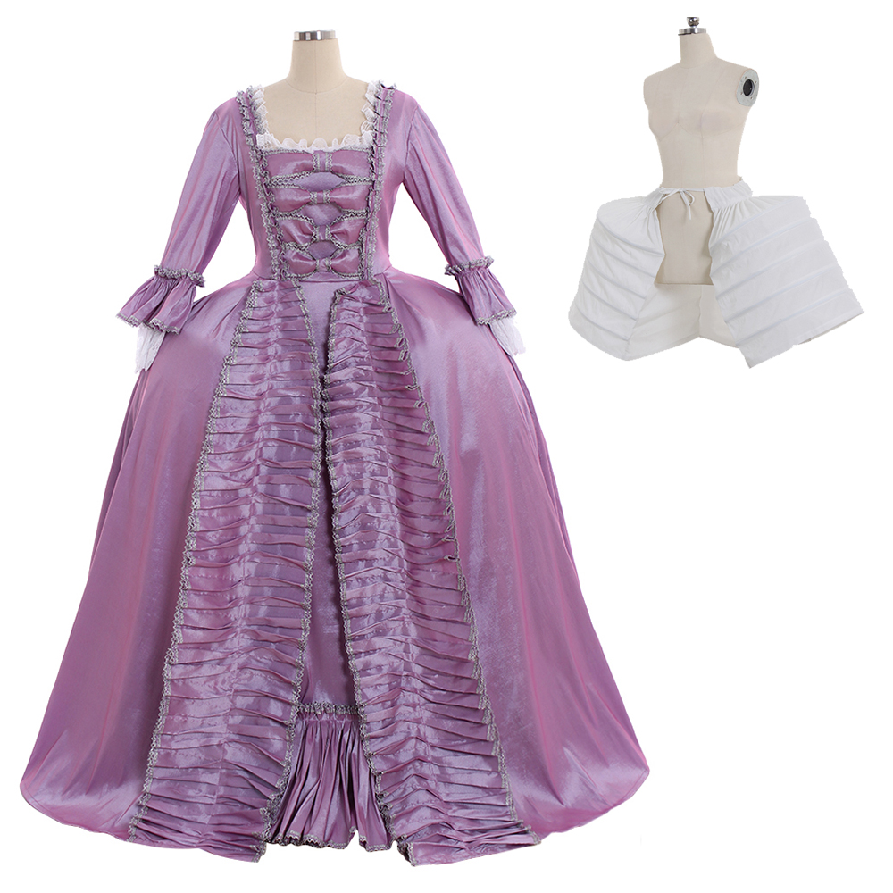 Cosplaydiy Marie Antoinette Baroque Ball Gown Dress 18th Century Colonial Purple Rococo Belle Dress Custom Made Any Size L320