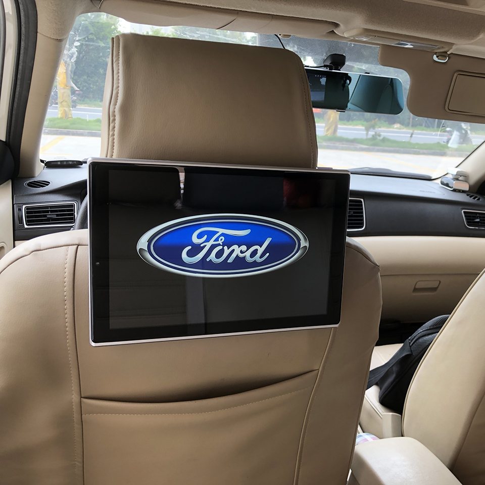 Car Android TV Monitors Display Rear Seat Entertainment For Ford Fiesta Focus Mondeo kuga Ecosport Edge Explorer F150 Mustang