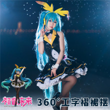 VOCALOID Hatsune Miku Cosplay Costume Cos Bunny girl Black Dress Sweet and Lovely Style