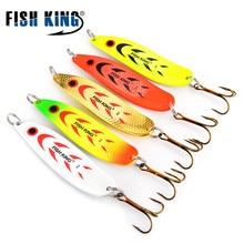 Купить с кэшбэком FISH KING 20-30g Mepps Metal Hard Spoon Spinner Lure Wobblers For Trolling Trout Spoon Crankbait Pike Bait Fishing Lure