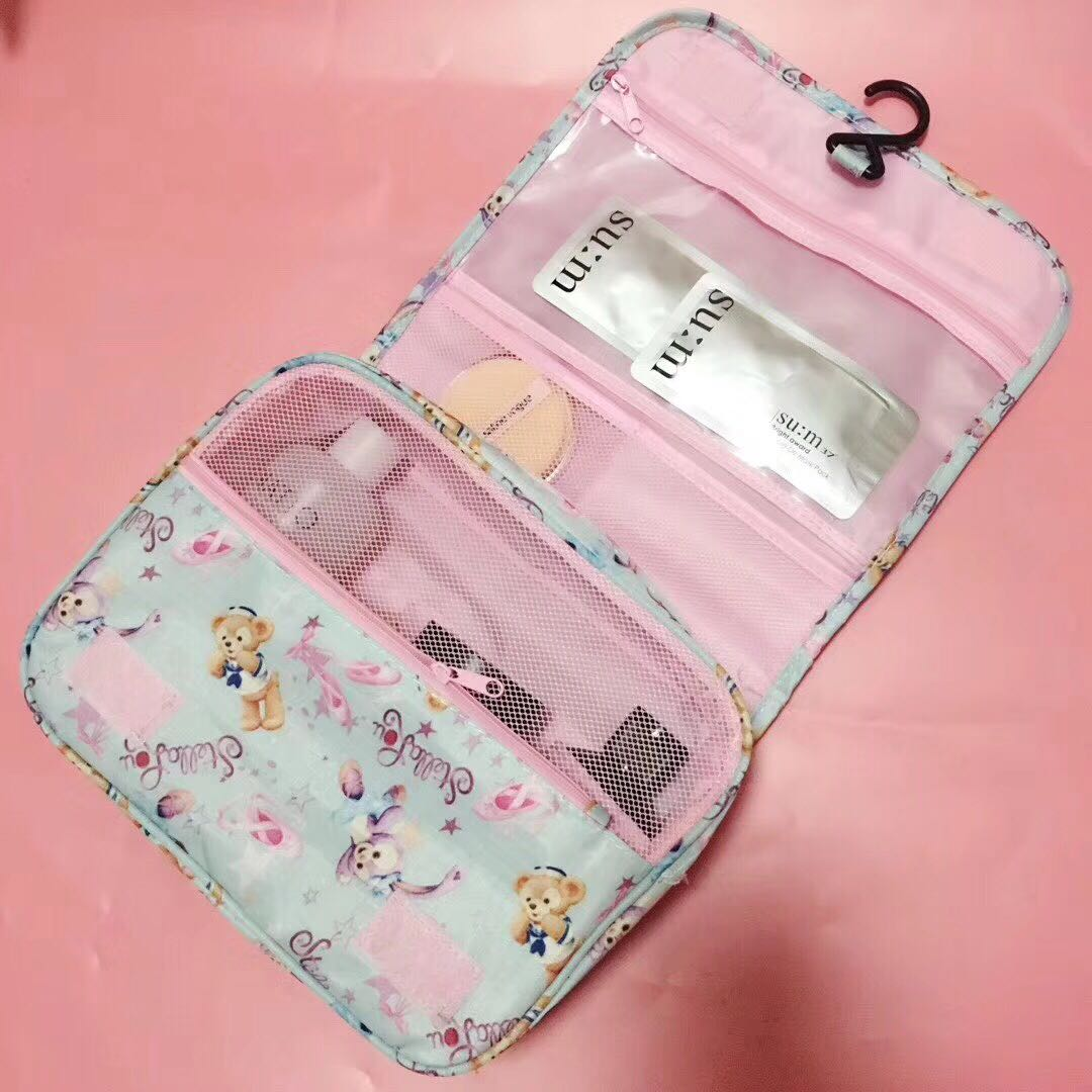 Japan Cartoon Cute Duffy Bear Friends Stellalou Rabbit Cosmetic Bag Wash Bags Plush Pouch Duffy Bear Bag Storage Bag