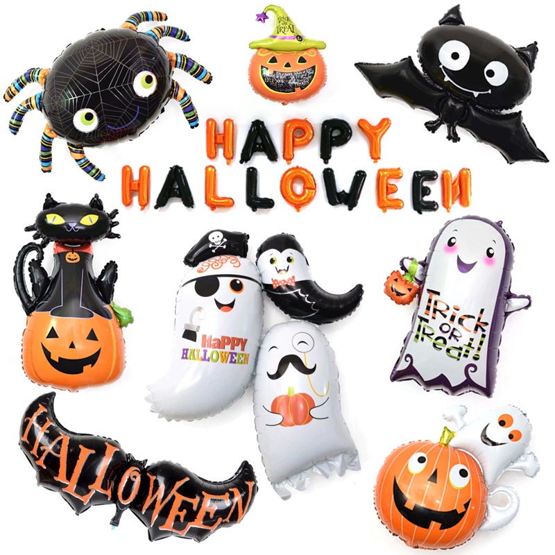 Happy Halloween Holiday Decorations Bar Decor Event Party Supplies Inflatable Birthday Toys Balloon