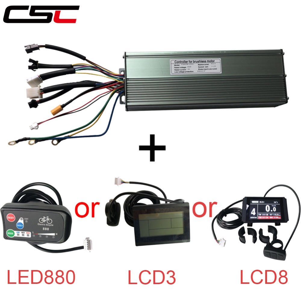 Electric bike 45A 48V 1500W//2000W e Bicycle 18 Mosfet Controller and KT display