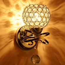 led crystal wall lamp ASCELINA Wall lights luminaria home lighting living room modern K9 E27 WALL light lampshade for bathroom