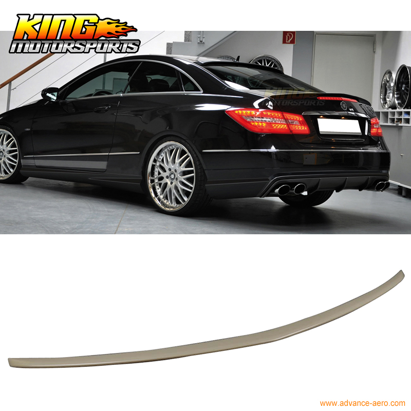 Fit for 10-16 Mercedes Benz E-Class E350 E550 2Dr C207 Coupe Sport Style Trunk Spoiler pp class front car mesh grill sport style fit for benz w203 c 2000 2006