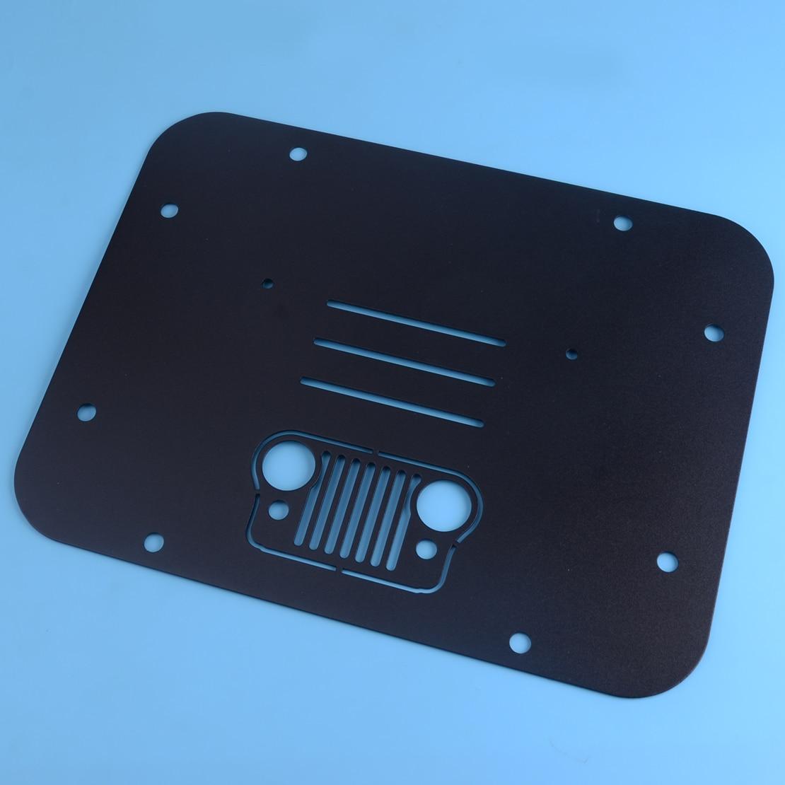 DWCX support de pneu de rechange supprimer plaque de remplissage timbre de Tramp pour Jeep Wrangler JK JKU 2007-2014 2015 2016 2017 2018