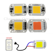 LED COB Lamp Chip 20W 30W 50W 220V 220V Input Smart IC Driver Fit For DIY LED Floodlight Spotlight Cold White Warm White цены онлайн
