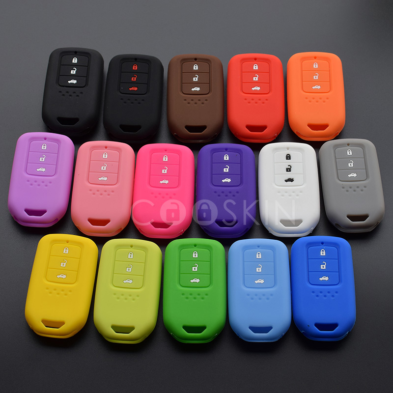 100pcs lot silicone car Key FOB cover case set skin holder for HONDA Accord Civic CRV