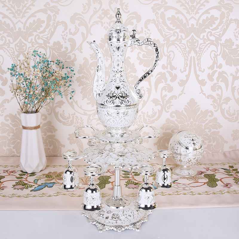 Metal Sherbet Set/Tea Set Fashion Zinc Alloy Sherbet Set Wedding Party Hotel Home Table Decoration