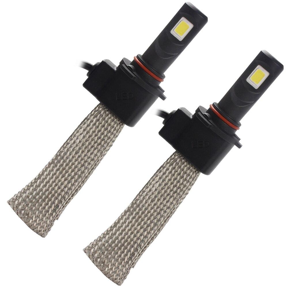 ФОТО Car Styling 30W/each bulb 9005 Light Source Aluminum alloy belt Heat Dissipation 3200LM LED Headlight Conversion Kit #iCarmo