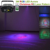 Wireless Remote RG Laser 16 Gobo Lights Mixed Water Galaxy RGB LED Effect Projector Lamp Party DJ Show Christmas Stage Lighting