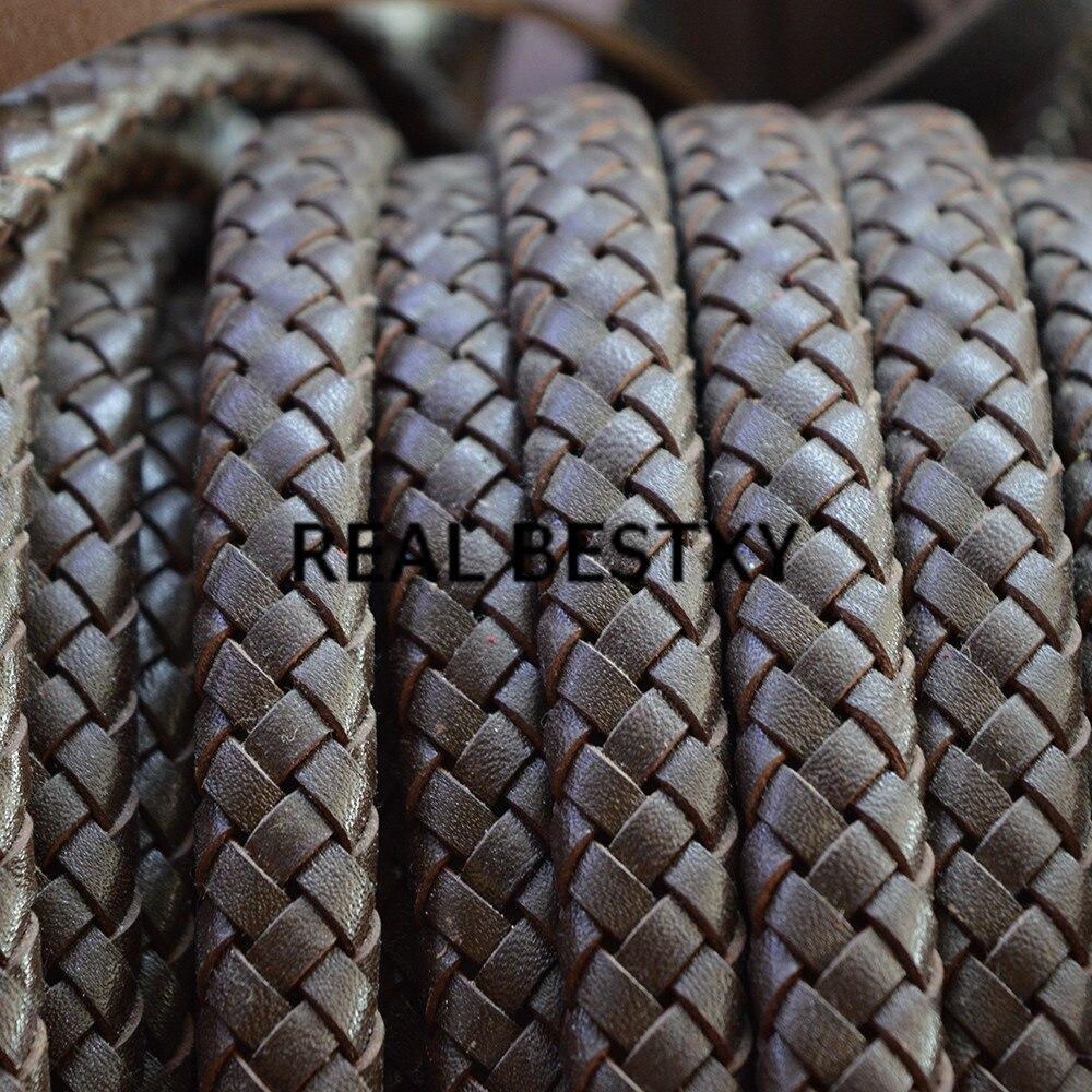2Rolls PU Leather Cords Twist Braided Thread DIY Bracelet Necklace findings 2m