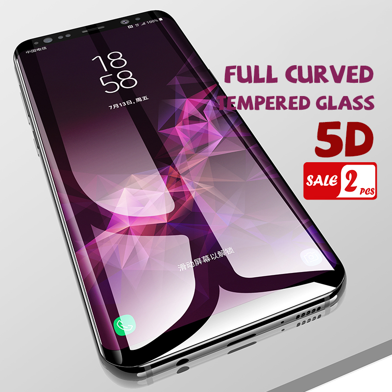 Full Curved Tempered Glass For Samsung Galaxy S9 S8 S7 S6 Edge Plus Screen Protector For Samsung S8Plus S7 Edge Protective Film