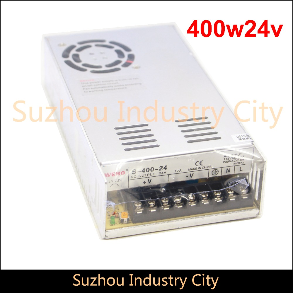 DC Switching Power supply 110V / 220V input 400W output 24V DC Power Supply Switch Power Supplies! High Quality! 400w led switching power supply 24v 16 7a 85 265ac input ce rosh power suply 24v output