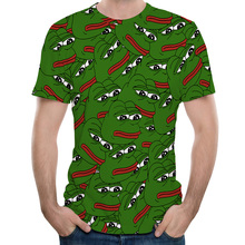 Sumer Hot Meme Pepe Frog T Shirt Men Summer Fashion Sad Frog Pepe Tshirt Printed T