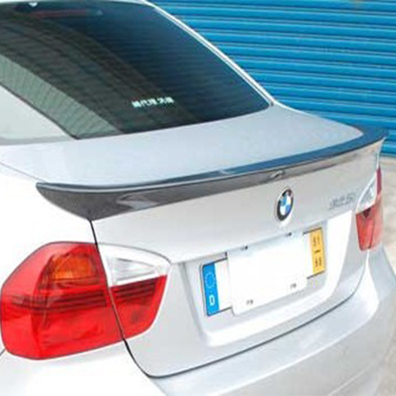 E90 Modified AC Style Carbon Fiber Rear Trunk Luggage Compartment Spoiler Car Wing for BMW E90 2005-2012 mercedes w207 replacement amg style spoiler for benz e class w207 2010 tail rear trunk spoiler wing carbon fiber car styling