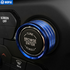 Image 4 - MOPAI Car Interior Air Conditioning Audio CD Adjustment Button Decoration Ring for Jeep Renegade 2018 Up Car Styling