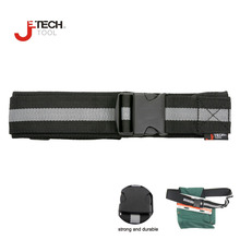 "Jetech 2 1/4"" wide nylon adjustable padded electrician waist tool belt carpenter workout work belt black for tool pouch"