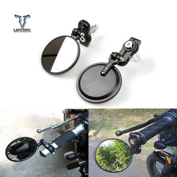 Motorcycle Universal CNC Aluminum Rear View 3 Handle Bar End 7/22 Mirrors for BMW K1200R K1200R SPORT K1200S R1200R R1200RT image