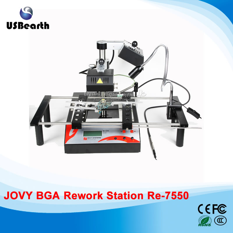 BGA Rework station jovy Re-7550 bga rework station, bga repair machine/system, welding machine,Free tax to EU ship to russia no tax jovy re8500 bga rework station re 8500 upgraded from re7500 soldering machine high quality