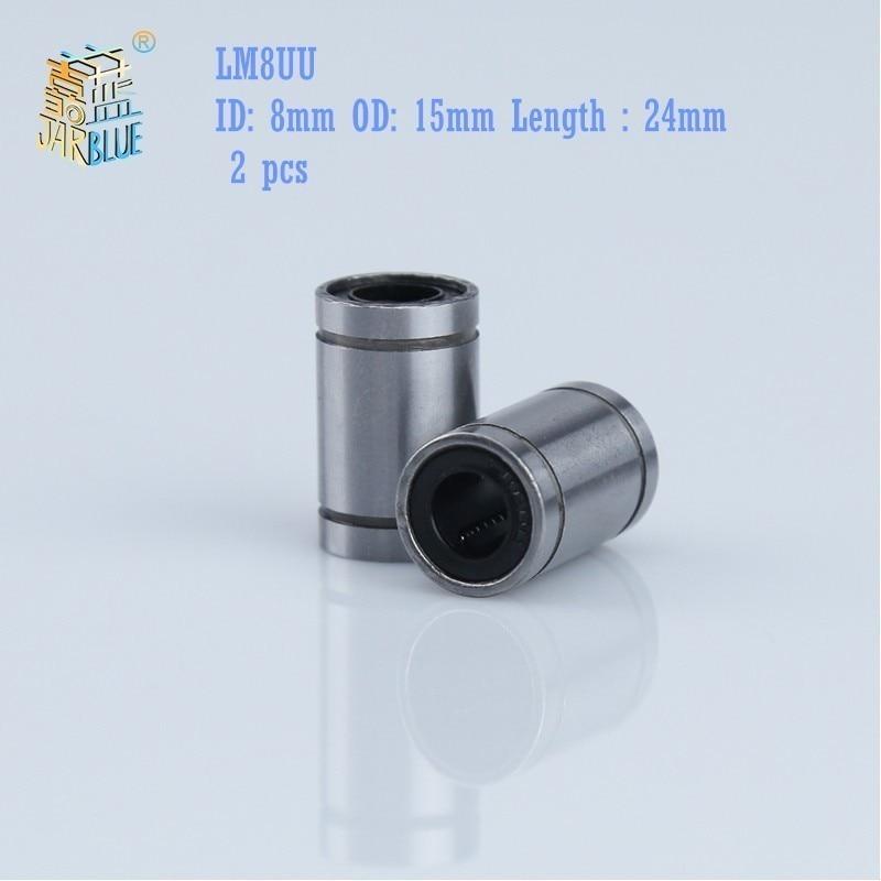 Free shipping 10pcs//lot LM8UU Linear Ball Bearing Bushing 8mm CNC Linear Bearing