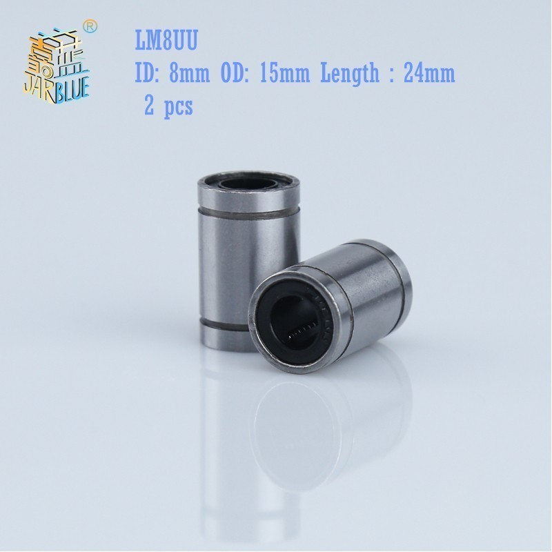 Free shipping 2pcs/lot LM8UU Linear Bushing 8mm linear ball bearing Linear Bearing 8mm 3d printer parts LM8 cnc parts free shipping 12pcs lot lm8uu 8mm linear bushing cnc linear bearings for 3d printer