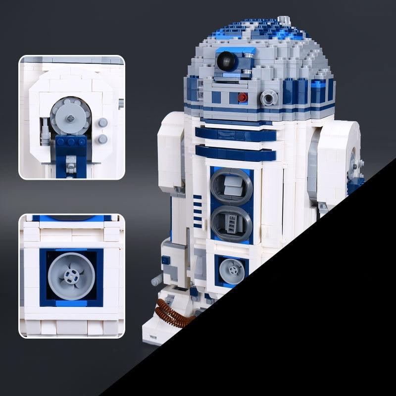 Hot Lepin 05043 Genuine Star Series The R2 Robot Set D2 Out of print Building Blocks Bricks Toys 10225 wars футболка классическая printio r2 d2 star wars dead star