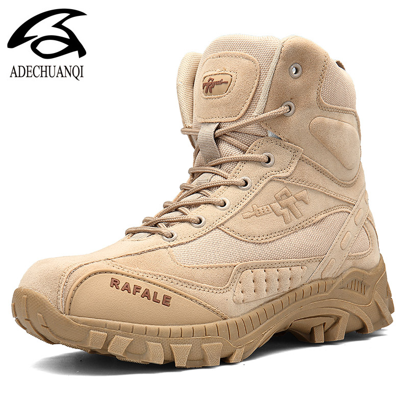 Army Boots Military Boots Men Tactical Boots Zip Army Tactical Desert Combat Boots Safety Shoe Snow Leather Winter Autumn