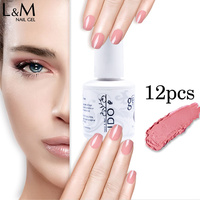 12 Pz IDO 53 Nuovi Colori Gelpolish 15 ml Soak Off Led Uv Del Gel del Chiodo Set (10 colors + Base + Top) Art Unghie in Gel Marche