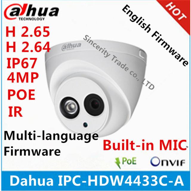 Dahua IPC-HDW4433C-A 4MP Starlight Camera Built-in MIC IR 50m network IP Camera Support POE replace IPC-HDW4431C-A cctv camera
