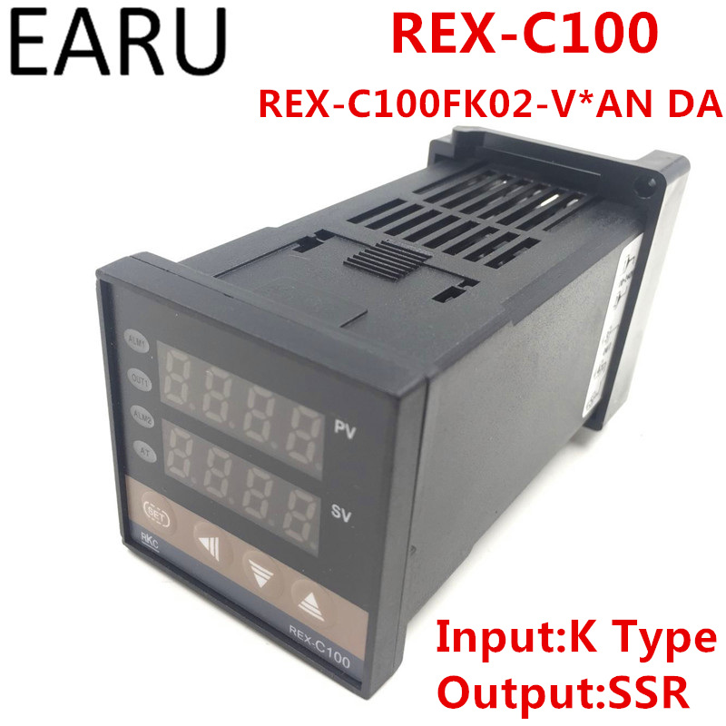 РКЦ REX-C100 rex-c100fk02-v * DA цифровой pid Контроль температуры Управление; термостат ССР Выход 0-400 градусов K Тип вход