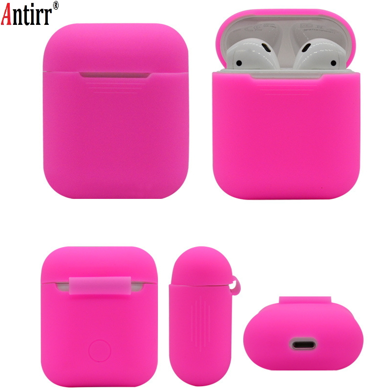 Soft Silicone Case For Apple Airpods Shockproof Cover For Apple AirPods Earphone Cases Ultra Thin Air Pods Protector Case Apple AirPods