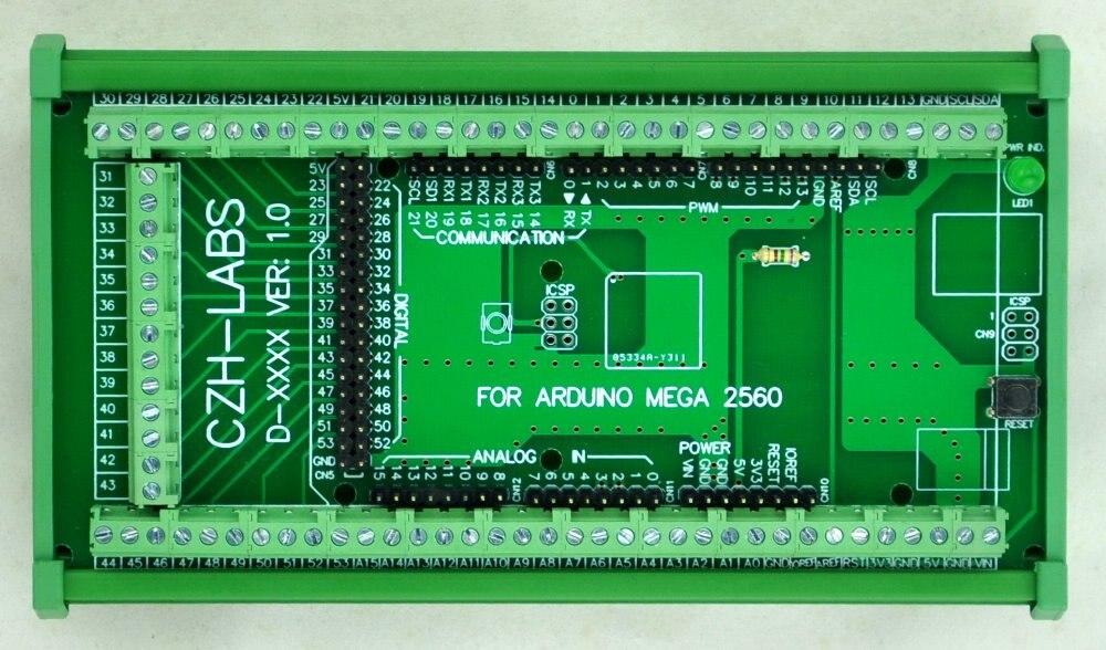 Module d'adaptateur de bornier à vis à montage sur Rail DIN, pour MEGA-2560 R3. - 3