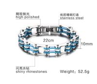Fashion Boys Mens Chain Skulls Link Biker Bicycle Motorcycle Link 316L Stainless Steel Bracelet Men