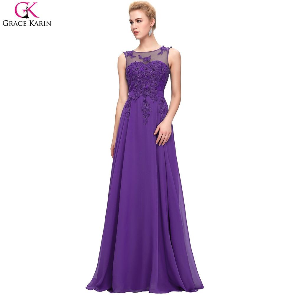 Elegantes largos vestidos de noche 2017 robe grace karin gasa sin ...