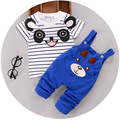 2016 summer baby boys clothes sets cartoon bear kids clothes cotton overalls suits for child costume baby clothing hot sale