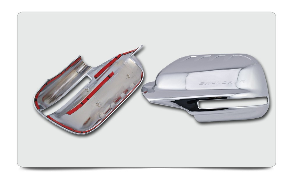 ABS Plating Chrome Mirror Cover For Ford Explorer 2012 2013 FULL With Turn Signal Light Cutout For North And South American f