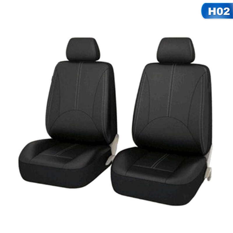 Fundas de asiento delantero de coche Universal de cuero PU de alta calidad cubeta trasera funda protectora de asiento de coche Interior de coche