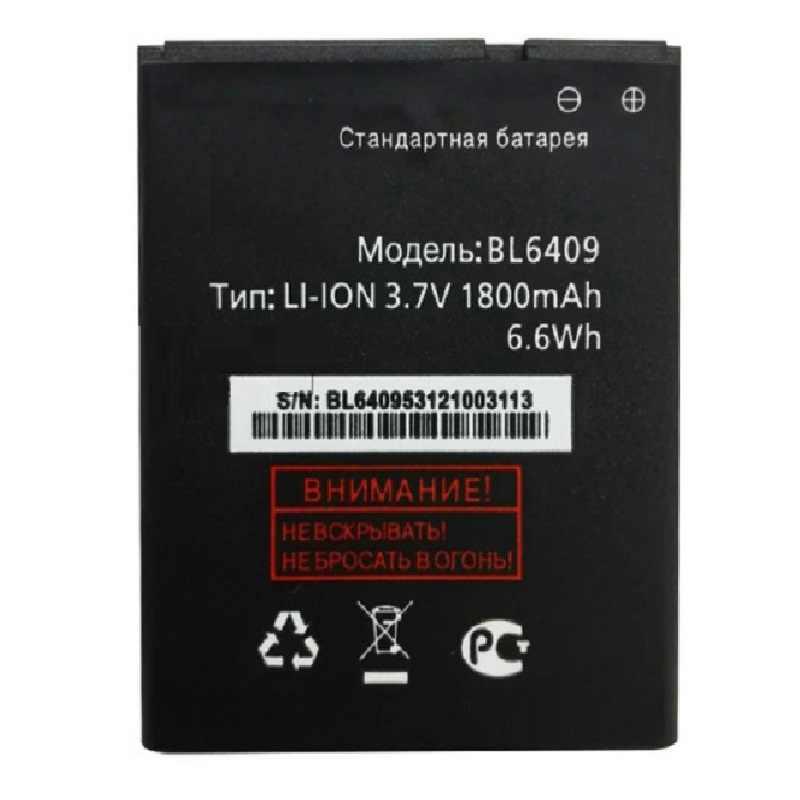 BL6409 BL 6409 3.7 V 1800 MAh Li-ion Baterai Ponsel Baterai untuk Terbang IQ4406 IQ 4406 Ponsel Isi Ulang bateria