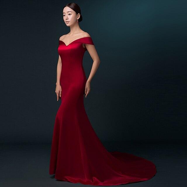 CEEWHY épaule dénudée Abendkleider Dubai Robe de soirée longueur de plancher sirène longue Robe de bal robes de bal Robe de soirée Largo